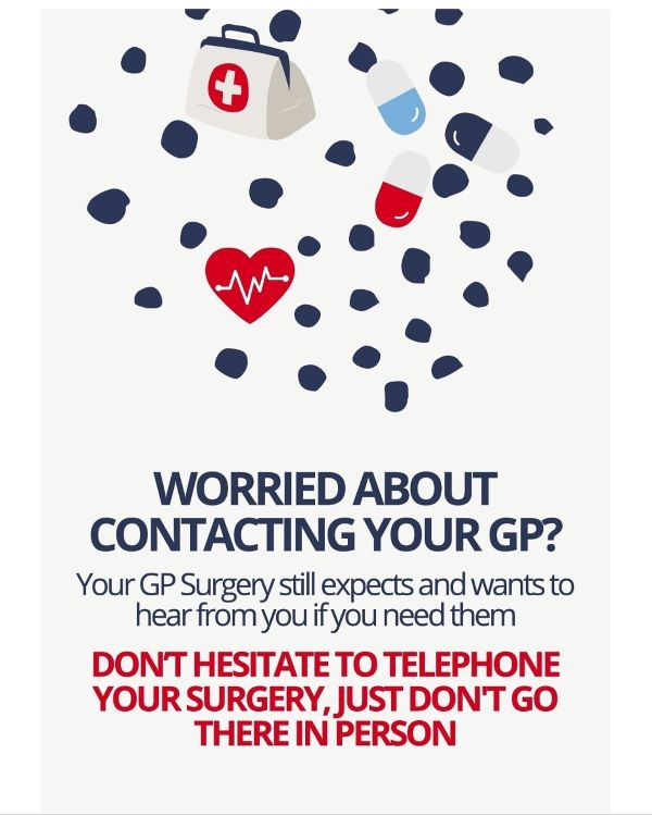 Worried about contacting your GP